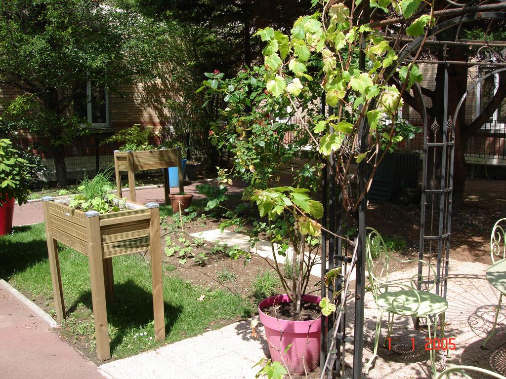 réalisation jardin hôpital Bichat